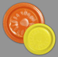 Orange 22cm & Yellow 17cm Plastic Plate Pack (20+20)